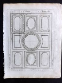 Langley 1777 Antique Architectural Print. Ceiling 176